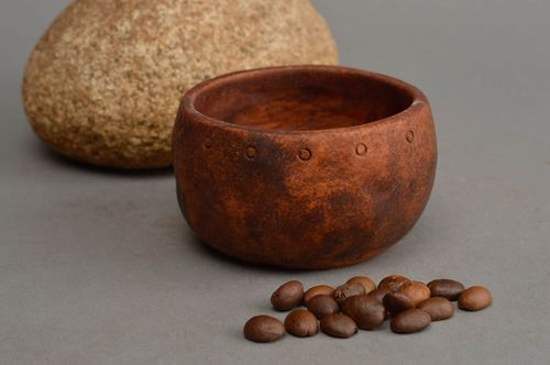 Small handmade ceramic sauce bowl designer clay salt bowl unusual kitchenware - MADEheart.com
