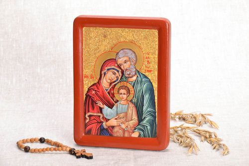 Printed copy of the icon Holy Family - MADEheart.com