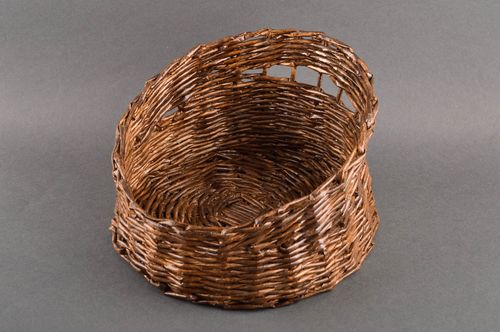 Handmade cute designer basket unusual stylish basket woven paper basket ideas - MADEheart.com