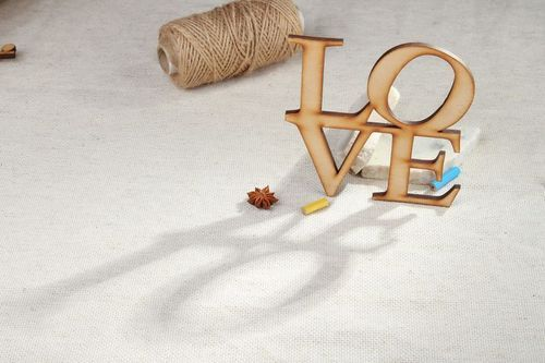Chipboard word LOVE - MADEheart.com