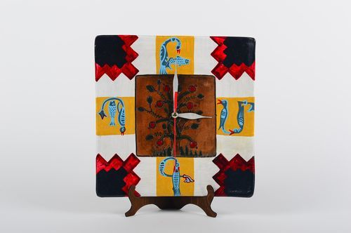 Unusual handmade ceramic clock home goods wall hanging small gift ideas - MADEheart.com