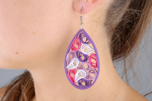 Oval earrings  - MADEheart.com