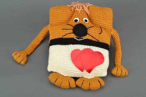Childrens knitted pillow pet Cat - MADEheart.com