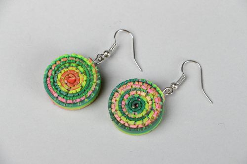 Earrings made ​​of polymer clay - MADEheart.com