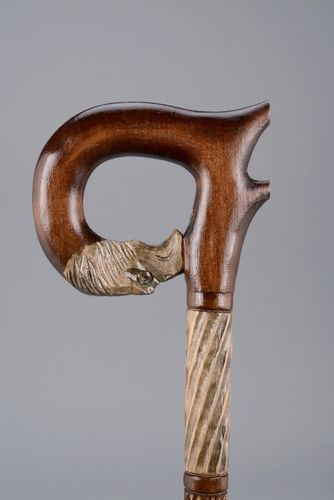 Wooden carved cane - MADEheart.com