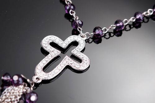 Necklace with cross and pendant - MADEheart.com