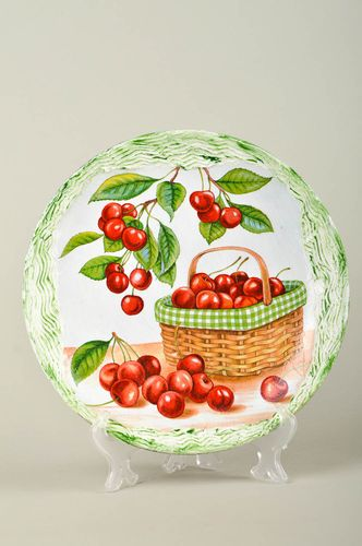 Beautiful handmade ceramic plate pottery works home design decorative use only  - MADEheart.com