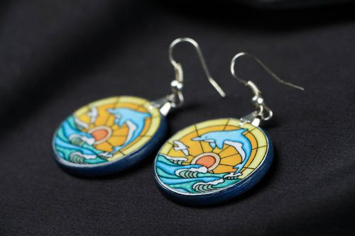 Earrings Dolphins - MADEheart.com