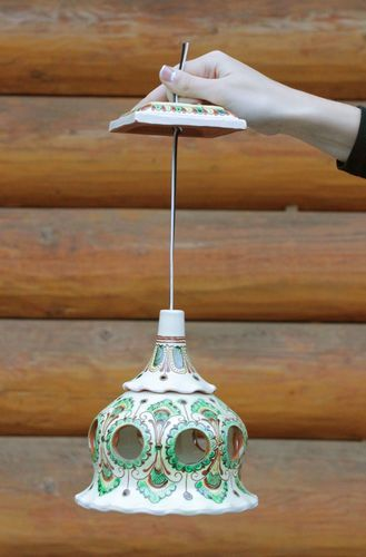 Decorative ceramic lampshade with painting - MADEheart.com