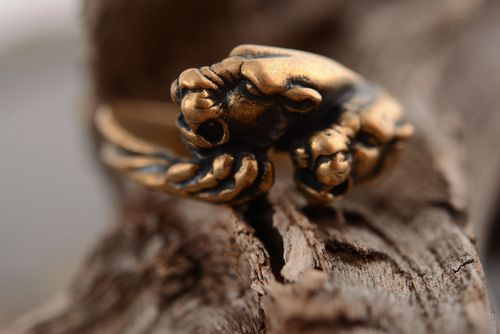 Bronze ring Panther - MADEheart.com