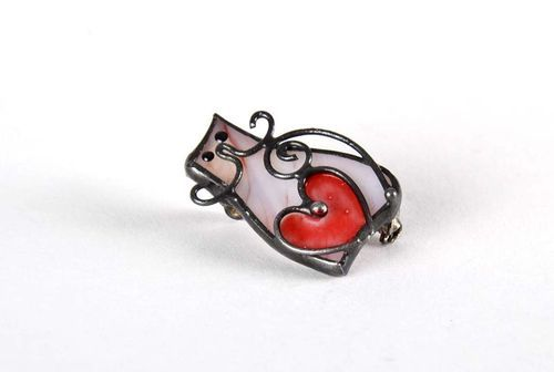 Stained glass brooch - MADEheart.com