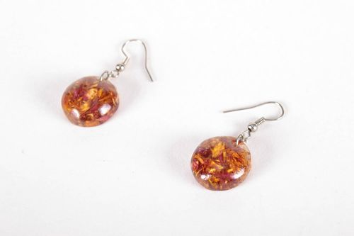 Earrings with dry flowers - MADEheart.com