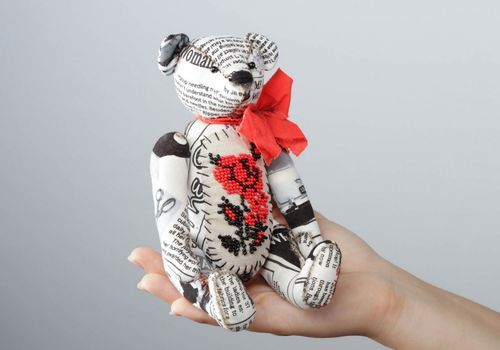 Soft toy Ukrainian fashion bear - MADEheart.com