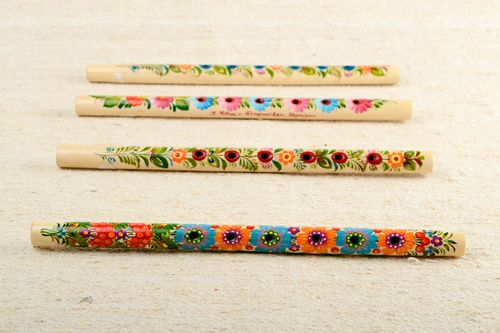 Handmade wooden flute designer penny whistle decorative use only unusual gift - MADEheart.com