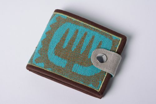 Handmade cotton and denim womens wallet - MADEheart.com