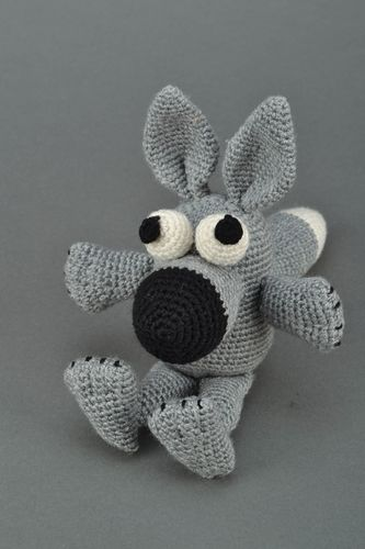Soft crochet toy Gray Wolf - MADEheart.com