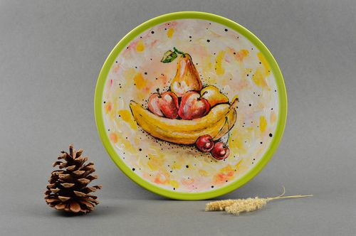 Handmade wall plate decorative ceramic plate gift ideas for decorative use only - MADEheart.com