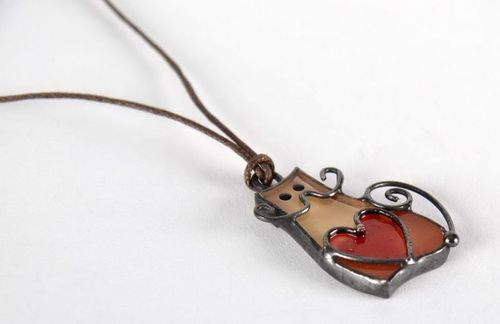 Stained glass pendant - MADEheart.com
