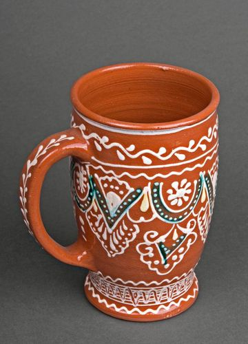 Decorative ceramic mug - MADEheart.com