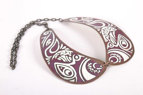 Copper Collar Necklace - MADEheart.com