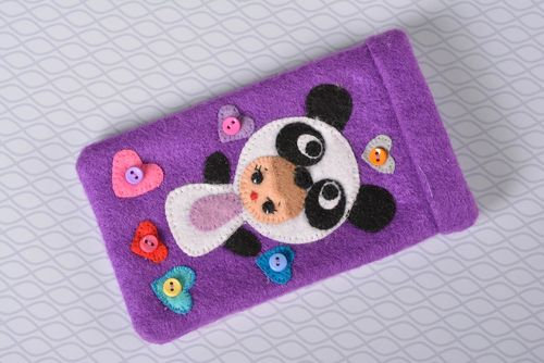 Beautiful handmade textile phone case funny gadget case design small gifts - MADEheart.com