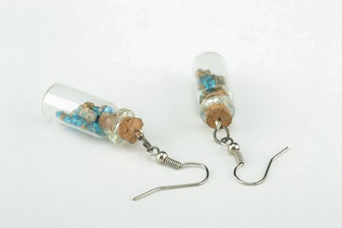 Long earrings Bottles - MADEheart.com