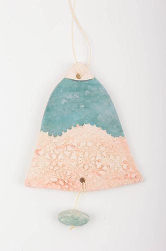 Unusual handmade ceramic wall panel wall hanging bell the living room - MADEheart.com
