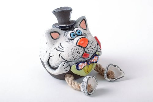 Handmade clay money box Mister Freddy - MADEheart.com