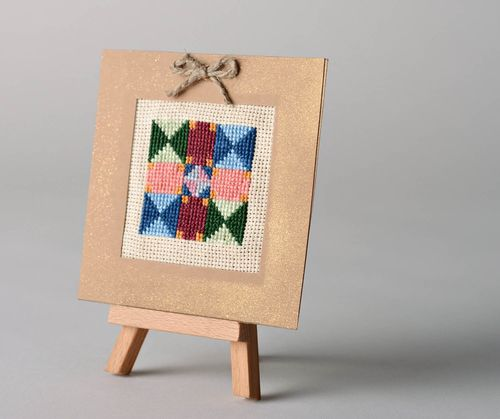 Handmade post card in patchwork style - MADEheart.com