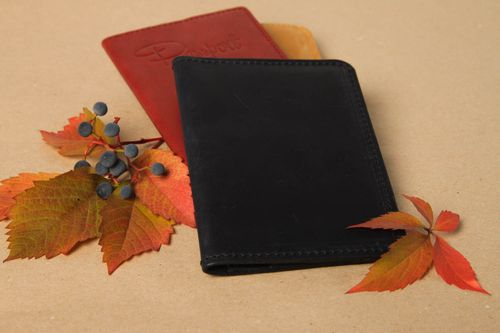 Unusual handmade leather wallet fashion accessories leather goods gifts for her - MADEheart.com
