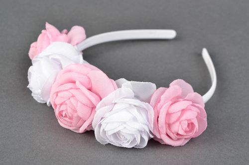 Gentle fabric flower headband - MADEheart.com