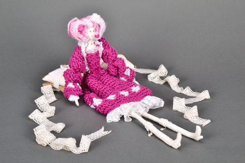 Knitted interior doll  - MADEheart.com