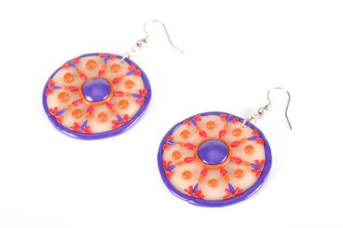 Round polymer clay earrings - MADEheart.com