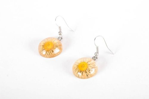Earrings made of camomiles - MADEheart.com
