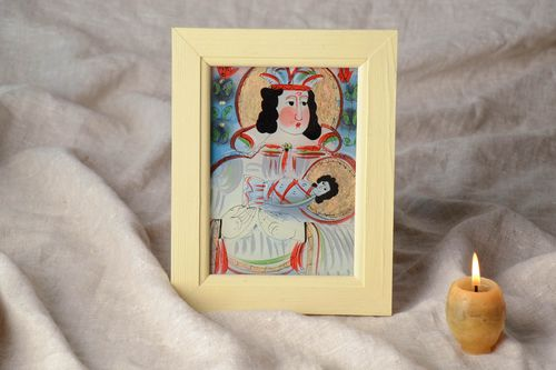 Folk icon of the Saint Mary with frame - MADEheart.com