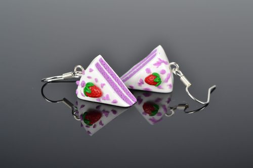 Polymer clay dangling earrings  - MADEheart.com