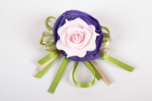 Brooch Barrette in the Shape of a Flower - MADEheart.com