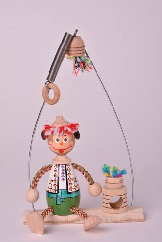 Handmade cute wooden toy unusual interior toy stylish nursery decoration - MADEheart.com