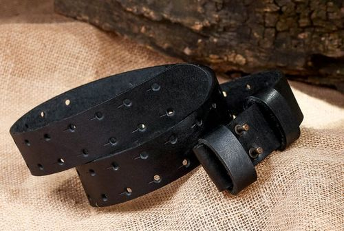 Black leather belt - MADEheart.com