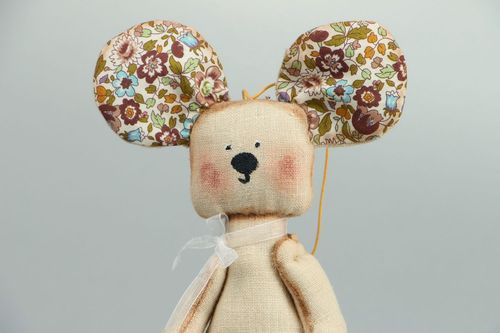 Soft toy Mouse - MADEheart.com