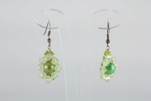 Beaded earrings Green - MADEheart.com