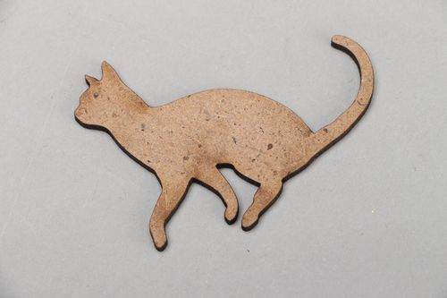 Plywood craft blank figurine of cat - MADEheart.com