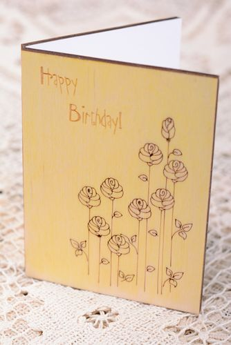 Wooden birthday card - MADEheart.com
