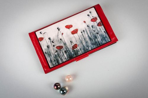 Handmade elegant leather wallet for women fashion accessories gifts for her - MADEheart.com