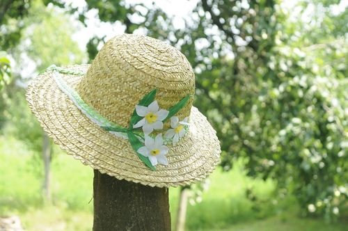 Womens summer hat Narcissus - MADEheart.com