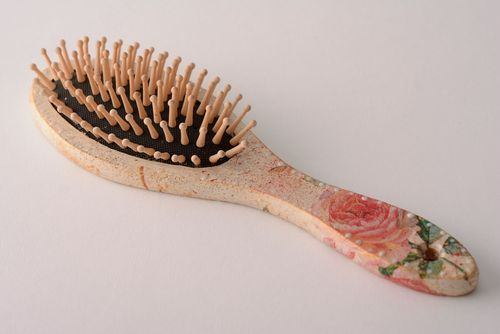 Hair brush Rose - MADEheart.com