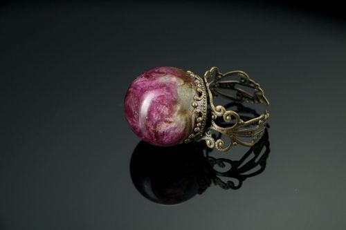 Ring with rose flower - MADEheart.com