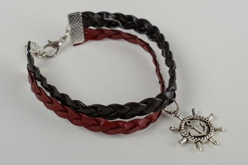 Unusual handmade leather bracelet wrist bracelet designs leather goods - MADEheart.com