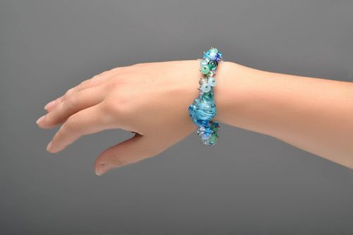 Bracelet made of glass Shell - MADEheart.com