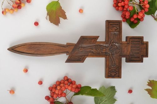 Wooden wall decor wood cross wall cross inspirational gifts wall hanging - MADEheart.com